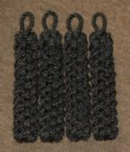 Set Of Four Black Staple Spun Rope Side Fenders